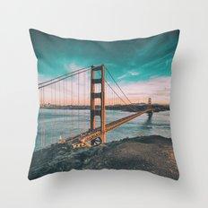 Golden gate bridge 4 Throw Pillow