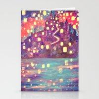 lanterns Stationery Cards featuring Lanterns by Jadie Miller