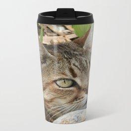 Tabby Cat Portrait Travel Mug