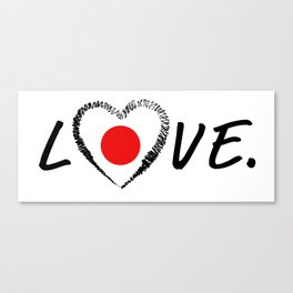 Love Japan. Canvas Print
