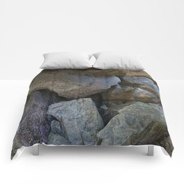 Natural Beach Rock Cave Texture Cornwall Comforters