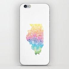 Typographic Illinois - Spring iPhone & iPod Skin