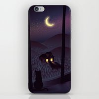 silent iPhone & iPod Skins featuring Silent Watcher by Martynas Pavilonis