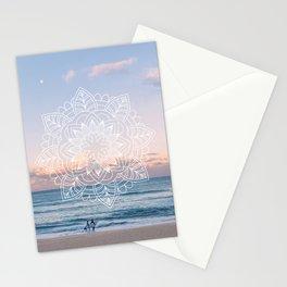 Twilight surf mandala Stationery Cards