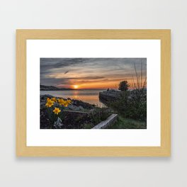 Sunset in Folly Cove 5-5-18 Framed Art Print
