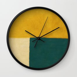Yellow White Petroleum Wall Clock
