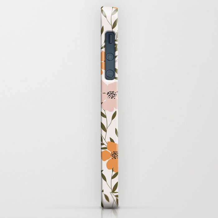 70s Floral Theme iPhone Case
