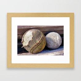 Foul Ball Framed Art Print