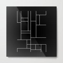 Geometric Abstract - Rectangulars (White) Metal Print