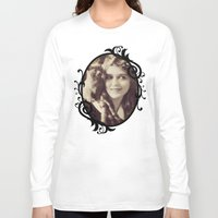 thundercats Long Sleeve T-shirts featuring Mary Pickford - Vintage Lady with kitten by Augustinet