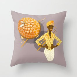 Gooseberry Upside-Down Cake  Throw Pillow