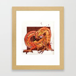 Fire Elemental Framed Art Print