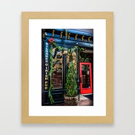 Kildares Irish Pub at Christmastime Framed Art Print