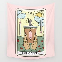 COFFEE READING UPDATED (LIGHT) Wall Tapestry