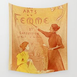 Art by women art nouveau ad drawing Wall Tapestry