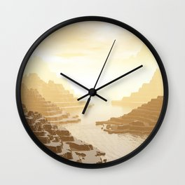 Misted Mountain River Passage Wall Clock