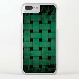 Green Weave Clear iPhone Case