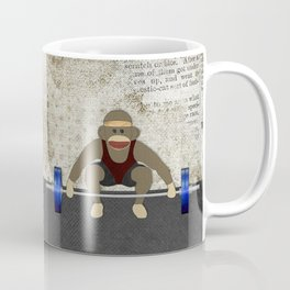 Sock Monkey Bodybuilder Coffee Mug