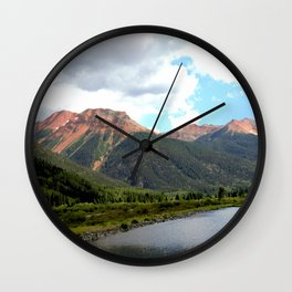 Red Mountains of the 1880's Gold Rush Wall Clock