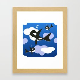 Orca Design Framed Art Print