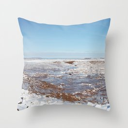Snow on the Bay of Fundy Throw Pillow