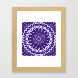 Purple Mandala Bloom Framed Art Print