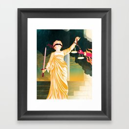 GOVERNMENT & JUSTICE Framed Art Print