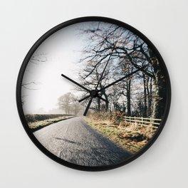 Winter road cycling Wall Clock