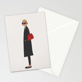 New Yorker, fashion illustration, fashion, girly, art print Stationery Cards