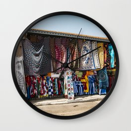 Textiles in Athens Wall Clock