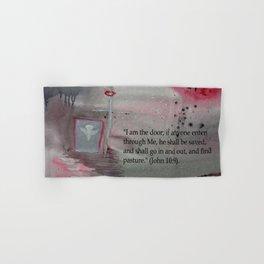 The Door----Religious Abstract Art --- John 10:9 --- by Saribelle Rodriguez Hand & Bath Towel