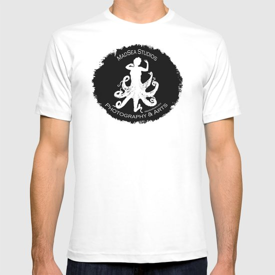 MadSea Nymph, white on black T-shirt