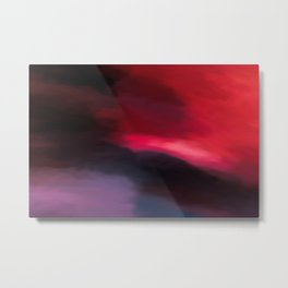 Abstract Red to Black Shades. Metal Print