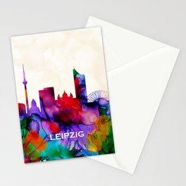 Leipzig Skyline Stationery Cards