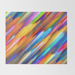 Colorful digital art splashing G391 Throw Blanket