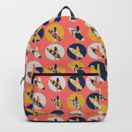 Surfer Girl Pattern Coral Backpack