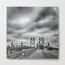 Interstate 74 Bridge - IL/IA Metal Print