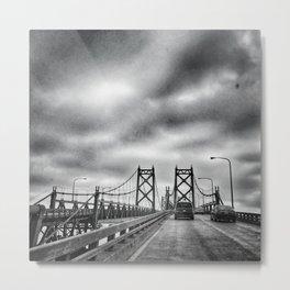 Interstate 74 Bridge - IL/IA Metal Print