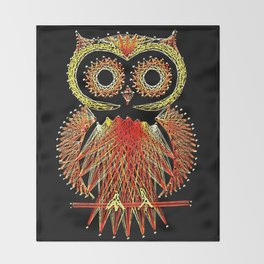 String Art Owl Throw Blanket