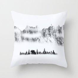 Snowland II Throw Pillow