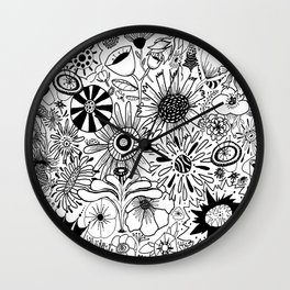 Floral Frenzy Wall Clock