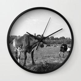 Cow Field Wall Clock