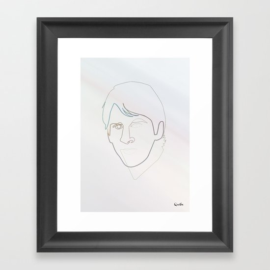 One line Leo Messi Framed Art Print