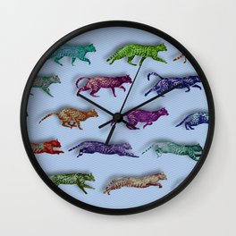 Time Lapse Motion Study Cat Green Background Cats Kitty Kitten Cat gift Wall Clock