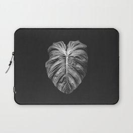 Monstera Deliciosa Black and White Laptop Sleeve