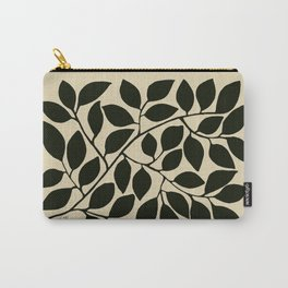 leaves black and white Carry-All Pouch