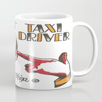 taxi driver Mugs featuring Taxi Driver #3 by @VEIGATATTOOER