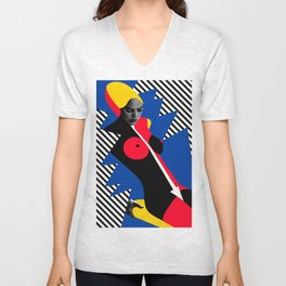Nude Pop Art Unisex V-Neck