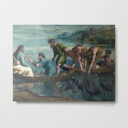 Raphael - The Miraculous Draft of Fishes Metal Print