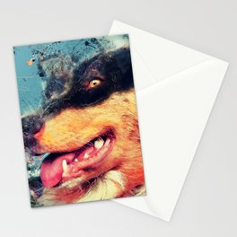 australian shepherd dog Stationery Cards